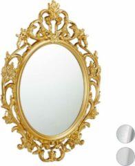 Relaxdays spiegel barrock stijl - sierspiegel gang - wandspiegel - design - wanddecoratie goud