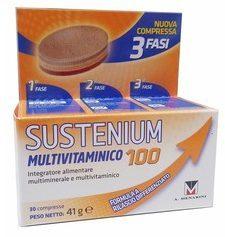 Sustenium Multivitaminico 100 Integratore Vitamine e Minerali 30 Compresse