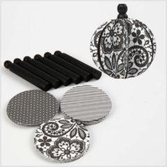 Creotime Design ornamenten, d: 8,5 cm, Paris, 6 assorti