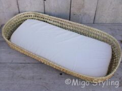 Naturelkleurige Migo Styling Baby-Aankleedmand-Verschoonmand-Inclusief matrasje-Aankleedkussen-Palmblad