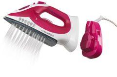 Rosa CLEANmaxx kabelloses Dampfbügeleisen Cleanmaxx weiß/pink