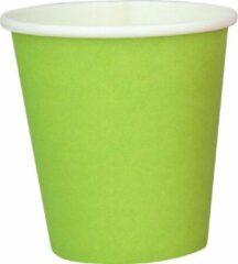 DispoDeals 2x 50 Fris groen papieren feest bekertjes 180 ml - Wegwerpbekertjes groen 180 ml (100 stuks)