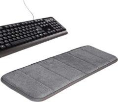 WiseGoods Elleboogmat Memory Foam - Toetsenbord Pad - Toetsenbord Elleboogsteun - Zachte Memory Foam Elleboog Kussen - Anti Slip - Grijs
