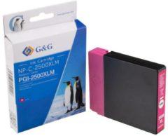 G&G Inkt vervangt Canon PGI-2500XL M Compatibel Magenta NP-C-2500XLM 1C2500M