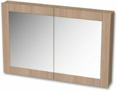 Tiger Frames spiegelkast 120x80cm rustiek eiken