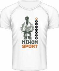 Sneldrogend sportshirt JUDOKA Nihon | wit - Product Kleur: Wit / Product Maat: XL