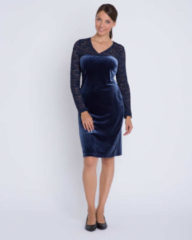 Couture Line Kleid mit Samt und Spitze