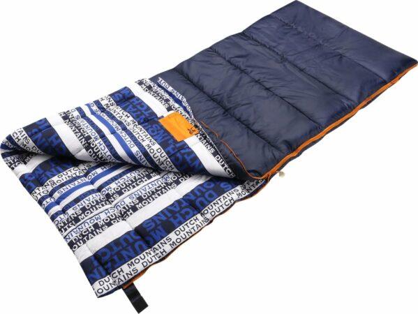 Afbeelding van Lichtblauwe Dutch Mountains Slaapzak Goeree XL - Extra groot 220x90cm - Katoenen binnenkant - Aanritsbaar - Tochtstrip en compressiehoes