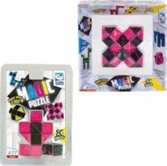 Clown Games Clown Magic Puzzle 48dlg Roze + Puzzle 3d 24 Dlg Roze