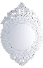 Beliani Craon - Spiegel - Glas - zilver - 67x2x100