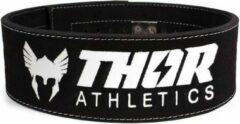 Witte Thor Athletics - Powerlift Riem Zwart - Gewichthefriem - Lifting Belt - Krachttraining Accesscoires - Powerlifting - Bodybuilding - Deadlift - Squat - Maat (XXXL)