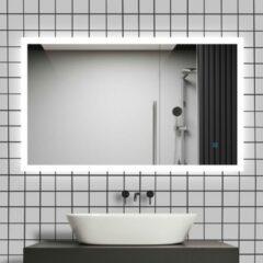Witte Sanexo Badkamerspiegel Starlight Touch 120x70cm Met LED Verlichting En Anti Condens