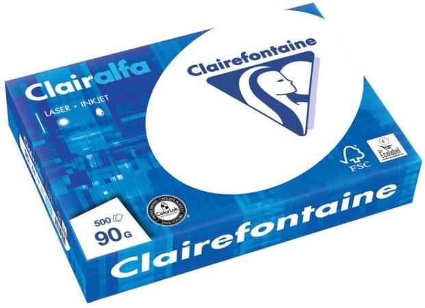 Afbeelding van Clairefontaine Clairalfa presentatiepapier A4, 90 g, pak van 500 vel