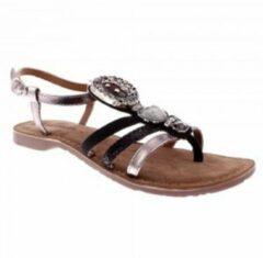 Zilveren Lazamani sandalet zilver