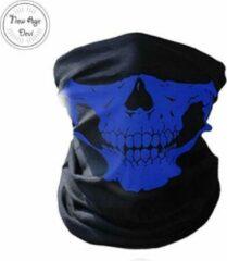 New Age Devi Balaclava Gezicht Shield Tactische Masker Blauw 3D Schedel Sport Nek Warm Volgelaatsmasker Winddicht Motor masker Motorfiets face shield spatmasker gezichtscherm Mondkap Ski Outdoor Sport