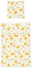 Seersucker Bettwäsche Blumen gelb Irisette Gelb
