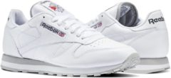 Grijze Reebok Classic Leather Sneakers Heren - White/Light Grey White/Light Grey - Maat 44.5