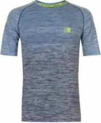 Donkerblauwe Karrimor - X-Lite Rapid Hardloop T-shirt - Heren - Navy Gemêleerd - S