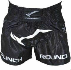 PunchR™ Punch Round Kickboks Broekjes NoFear Zwart Wit XS = Jeans Maat 28   8 t/m 10 Jaar