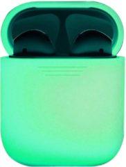 BTH Siliconen Bescherm Hoesje Cover voor Apple AirPods 1 Case - Glow in the dark