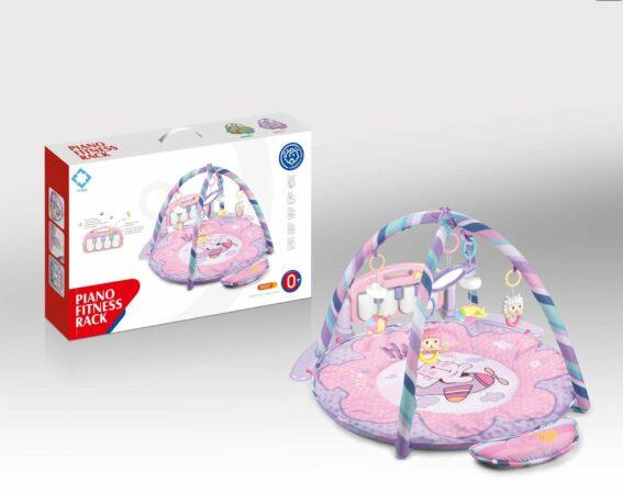 Afbeelding van FDBW Interactief Speelkleed – Kitten   Speelkleed Met Boog   Baby Speelmat Gym – 65 x 45 x 10 cm   Baby Speelkleed – Roze