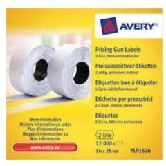 Avery-Zweckform Prijslabels PLR1626 Weer verwijderbaar Breedte etiket: 26 mm Hoogte etiket: 16 mm Wit 12000 stuks