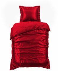 Beauty Silk - Dekbedovertrek Satijn - Rood - 140x200/220