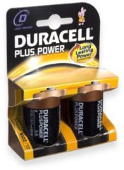 Duracell Plus batterijen, D, R20 1,5V kaart a 2 stuks
