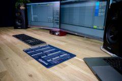 InsideAudio Ableton muismat met shortcuts - blauw/studio