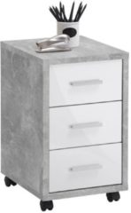 FD Furniture Ladeblok Puma 60 cm hoog - Grijs beton met hoogglans wit