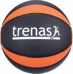 Trenas - Pro Medicijnbal - Medicine bal - Rubber - 1.5 kg - Zwart-Oranje
