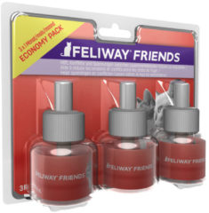 Feliway Friends Navulling - Anti stressmiddel - 3x48 ml