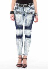 Blauwe Cipo & Baxx Skinny fit Broek Maat W27
