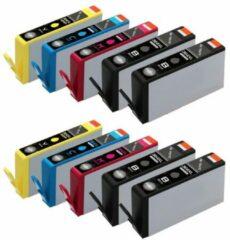 ReYours® huismerk HP 364 XL 364XL Compatible Inktcartridge 10-pack 4 Zwart/2 Cyaan/2 Magenta/2 Geel, met chip inktniveau weergeven