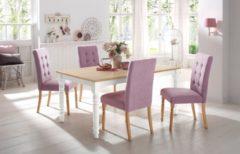 Home affaire Tisch »Cisa« mit gedrechselten Beinen aus massiver Buche