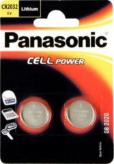 Panasonic Batterie Lithium Knopfzelle CR-2032L/2BP Panasonic Silber