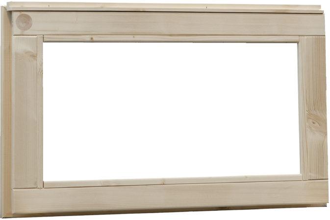 Afbeelding van Woodvision | Vast raam met melkglas