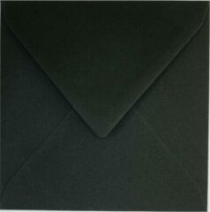 Paper For Moments 50x luxe wenskaartenveloppen vierkant 160x160 mm - 16,0x16.0 cm - 120 grs zwart