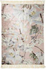 Roze Essenza Rosalee vloerkleed met bloemenprint