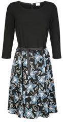 Kleid Alba Moda Blau/Petrol/Weiß