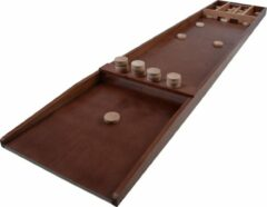 Bruine Longfield Games wedstrijd sjoelbak met 30 schijven 200 x 41 cm