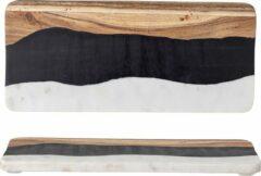 Bloomingville snijplank marmer-hars-acacia 18x39,5 cm