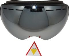 Zwarte Amoy Fuji TPU Ultra-Light frame. Dubbel lens Ski/Snowboard Goggle