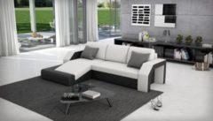 Cats Collection Design Ecksofa weiß schwarz 145 x 281 cm