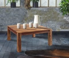 Wolf Möbel Wohnzimmertisch Shan Sheesham Shina 100x100 cm Maserung Massivholz Couchtisch