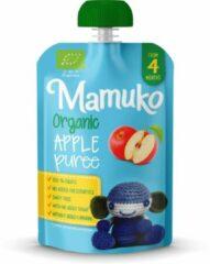 Mamuko biologisch knijpfruit - Appel puree 4+ mnd (6 x 100 gr.)