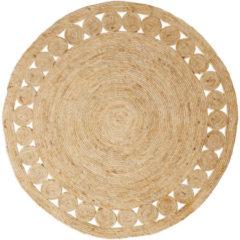 Naturelkleurige Xenos Vloerkleed riet - rond - ⌀120 cm