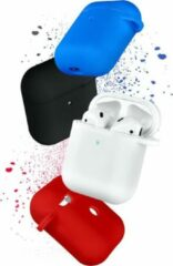 COTEetCi Siliconen Bescherm Hoesje Cover voor Apple AirPods 2 Case - Rood