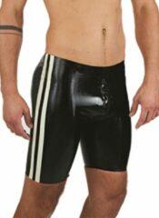 Zwarte MisterB Mister b rubber fucker shorts black white xs