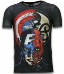 Zwarte T-shirt Korte Mouw Local Fanatic Captain - Digital Rhinestone T-shirt